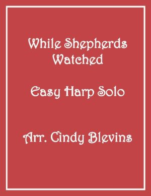 While Shepherds Watched Their Flocks, Easy Harp Solo with recording