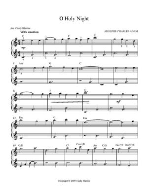 O Holy Night, Easy Harp Solo with recording