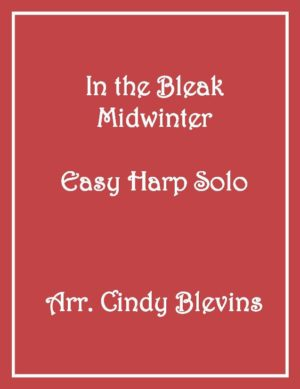 In the Bleak Midwinter, Easy Harp Solo with recording