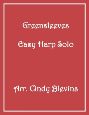 Greensleeves, Easy Harp Solo with recording