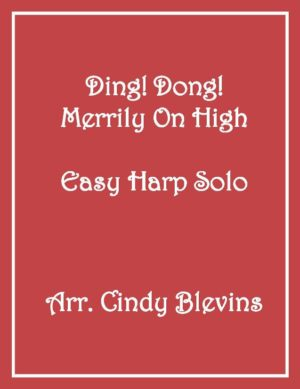 Ding Dong! Merrily On High, Easy Harp Solo with recording