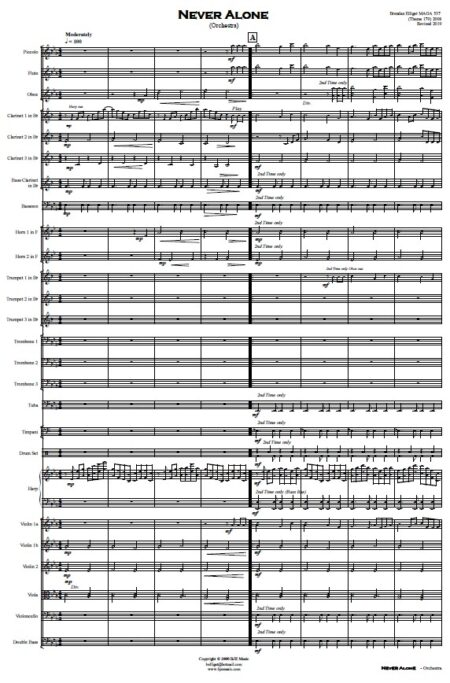 335 Never Alone Orchestra SAMPLE page 01