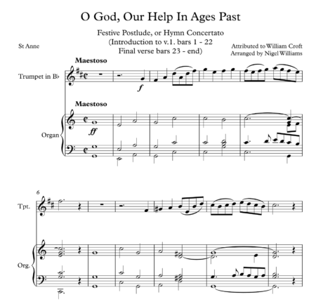 O God, Our Help In Ages Past, for Trumpet and Organ