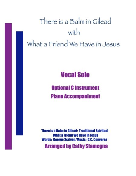 VOC There is a Balm in Gilead with What a Friend We have in Jesus title JPEG