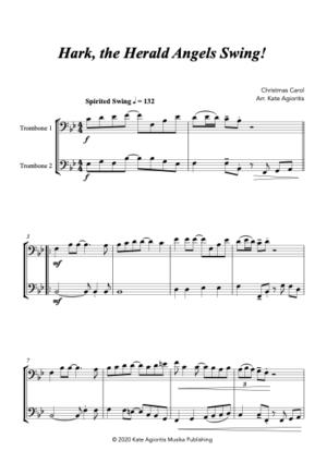 Hark the Herald Angels SWING! – for Trombone Duet