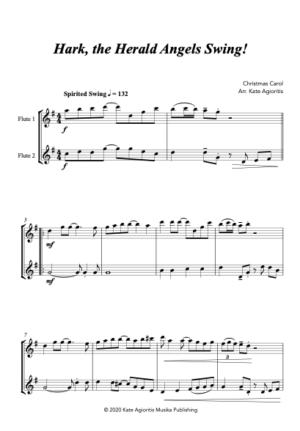 Hark the Herald Angels SWING! – for Flute Duet