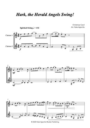 Hark the Herald Angels SWING! – for Clarinet Duet