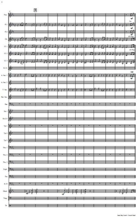 476 Sans Day Carol Concert Band SAMPLE page 02