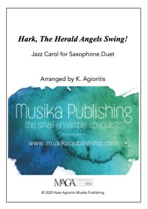 Hark the Herald Angels SWING! – for Saxophone Duet