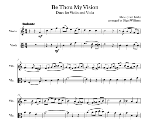 Be Thou My Vision, Duet for Violin and Viola