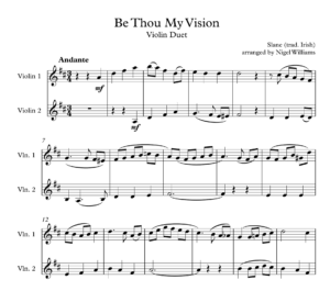 Be Thou My Vision, for Violin Duet