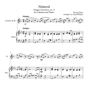 Nimrod, for Clarinet and Piano