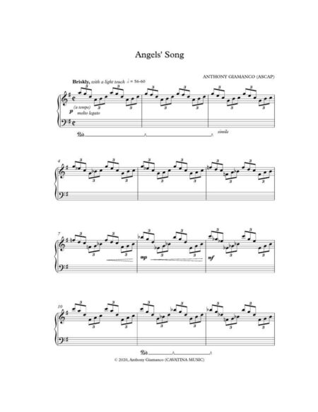 ANGELS' SONG -piano solo