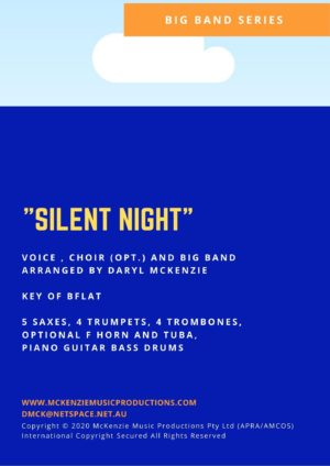 Silent Night Key Bb vocal with Choir and Big Band
