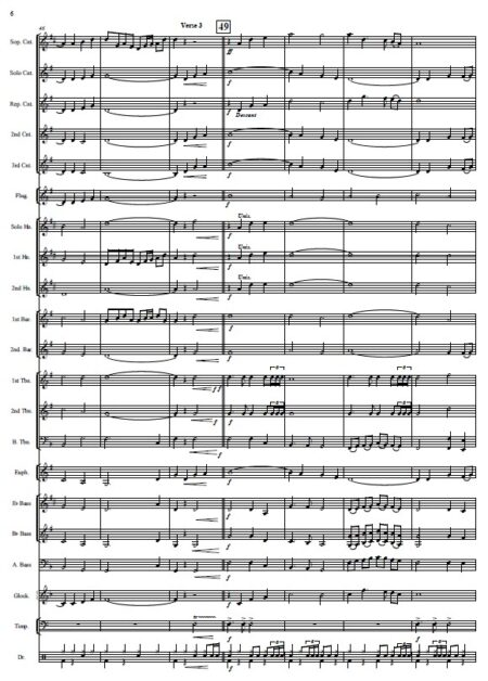 146 When I Survey The Wondrous Cross Celtic Version Brass Band SAMPLE page 06