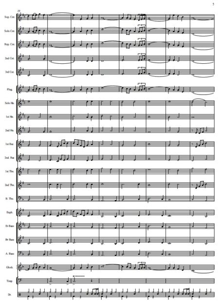 146 When I Survey The Wondrous Cross Celtic Version Brass Band SAMPLE page 05