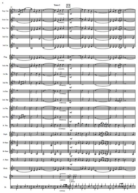 146 When I Survey The Wondrous Cross Celtic Version Brass Band SAMPLE page 04