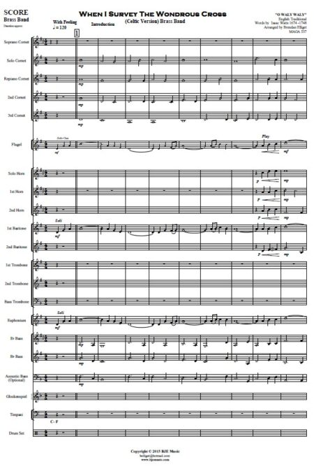 146 When I Survey The Wondrous Cross Celtic Version Brass Band SAMPLE page 01