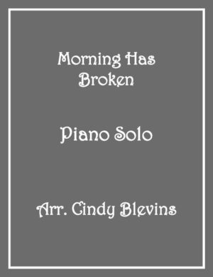 Morning Has Broken, Intermediate Piano Solo