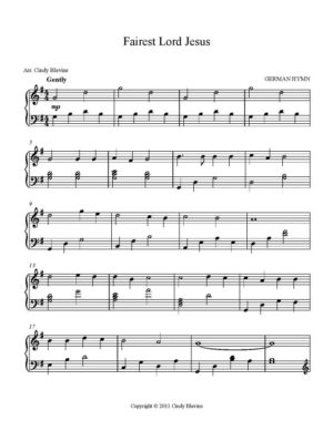 Fairest Lord Jesus, Intermediate Piano Solo