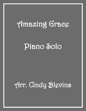 Amazing Grace, Intermediate Piano Solo