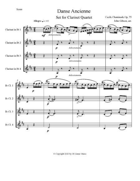 Chaminade Danse Ancienne clar4 score1