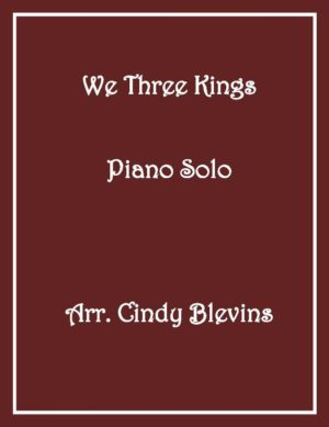 We Three Kings, Intermediate Piano Solo