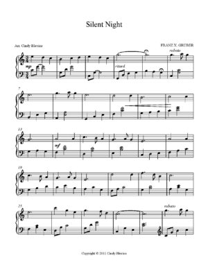 Silent Night, Intermediate Piano Solo