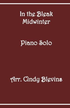 In the Bleak Midwinter, Intermediate Piano Solo
