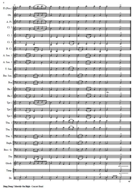 271 Dong Dong Merrily On High Concert Band SAMPLE page 06