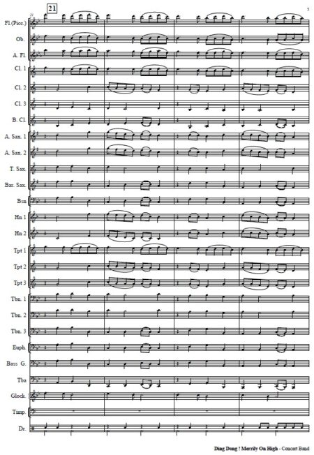 271 Dong Dong Merrily On High Concert Band SAMPLE page 05