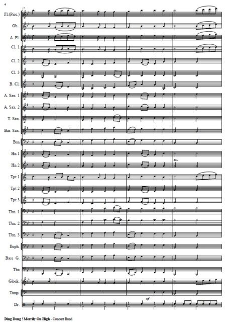 271 Dong Dong Merrily On High Concert Band SAMPLE page 04