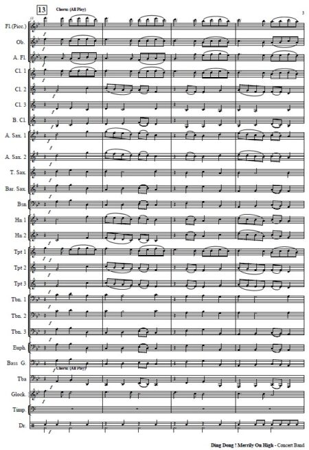 271 Dong Dong Merrily On High Concert Band SAMPLE page 03