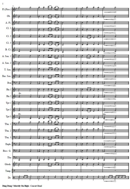 271 Dong Dong Merrily On High Concert Band SAMPLE page 02