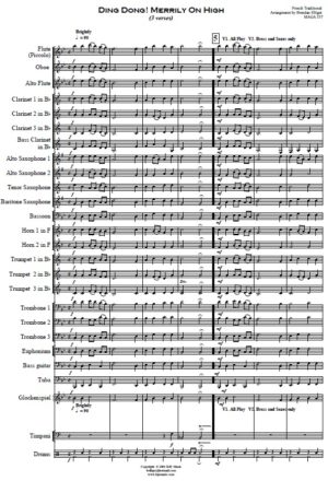 Ding Dong Merrily On High – Concert band
