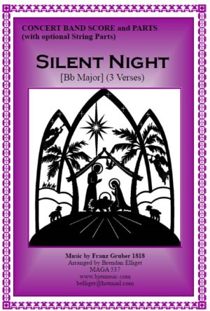Silent Night (Christmas) – Concert Band with Optional String Parts