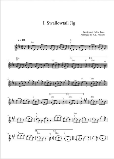 swallowtail violin