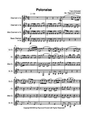 Polonaise for Clarinet Quartet (Schubert)