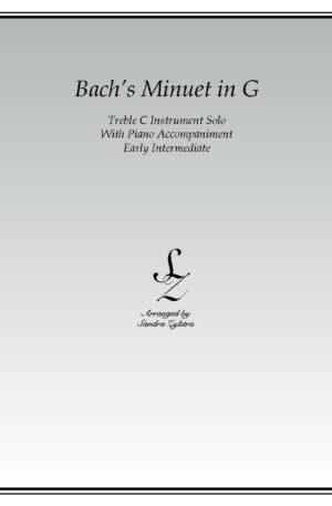 Bach's Minuet In G -Treble C Instrument Solo