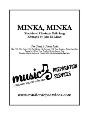 Minka, Minka – Traditional (Concert Band – Grade 2) – Arr. John M. Licari