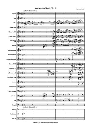 Andante for Band No 2 – for Concert Band