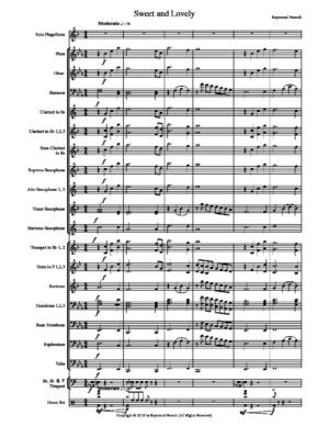 Sweet and Lovely – For Flugelhorn and Concert Band