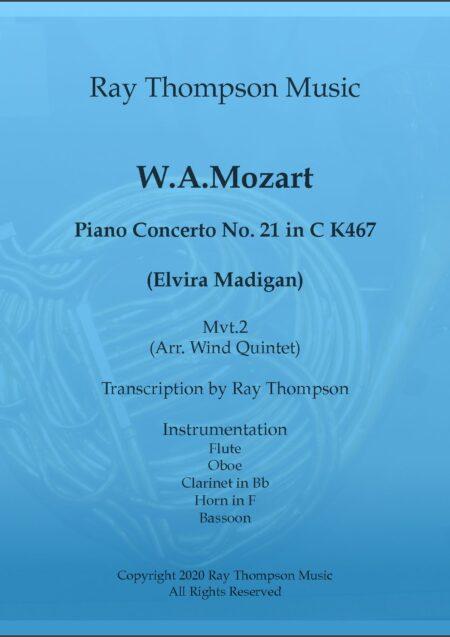 Piano Concerto No 21 in C K467 Mvt II Andante w5 title pdf