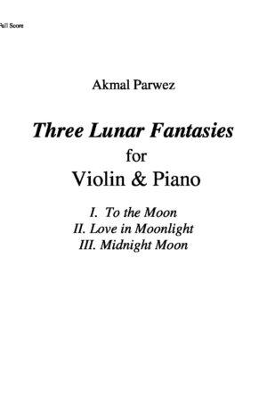 Three Lunar Fantasies for Violin & Piano