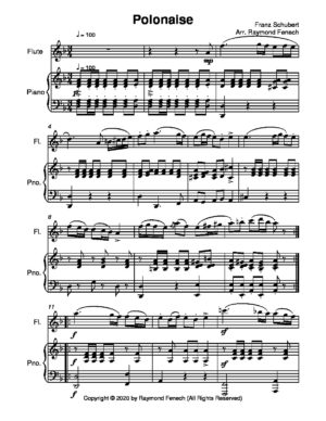 Polonaise – F.Schubert – solo Flute and Piano