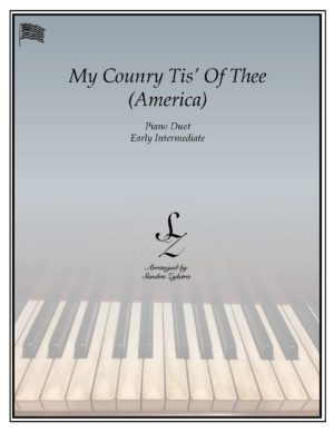 My Country Tis' Of Thee -Early Intermediate Piano Duet