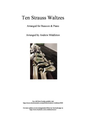 10 Strauss Waltzes for Bassoon and Piano