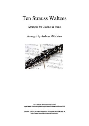 10 Strauss Waltzes for Clarinet and Piano
