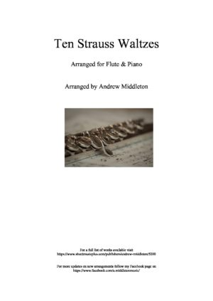 10 Strauss Waltzes for Flute and Piano