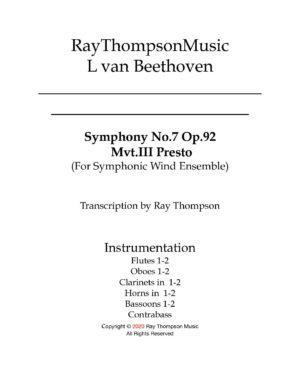 Beethoven: Symphony No.7 Op.92 Mvt.III Presto – symphonic wind and bass